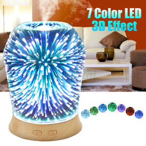 3D LED Essential Oil Humidifier Ultrasonic Diffuser Aroma Aromatherapy   /O