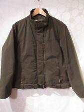 WOOLRICH Women's XL Dark Wood Fleece Lined Full-Zip Bomber Jacket