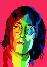 Psychedelic John Lennon a4 260gsm Poster Stampa