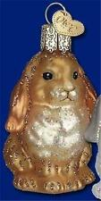 BROWN BABY BUNNY RABBIT OLD WORLD CHRISTMAS GLASS EASTER ORNAMENT NWT 12365