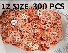 12 Sizes 300Pcs Copper washers(Bags)Seal O-Ring Gasket Kit for Sump Plugs Water