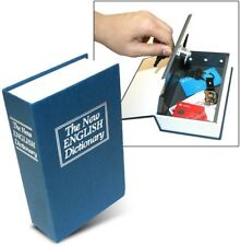 Dictionary Secret Book Hidden Safe With Key Lock, Large, Blue The Original From