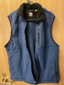 mens zip up vest size large by timberland