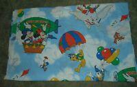 Disney Double Sheet Flat Vintage Mickey Minnie Dumbo Pacific Brand USA Made