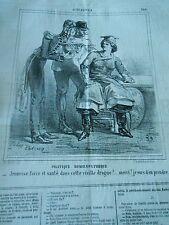 Caricature 1863 - Politique Homoeopathique jeunesse force cette vieille drogue