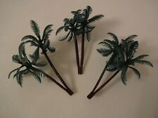 3 x Plastic Palm Trees Cake Cupcake Toppers Decorations Tropical Beach Flamingo