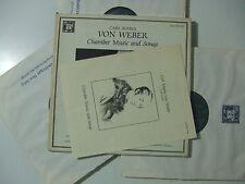 Carl Maria Von Weber - Chamber Music And Songs - Dischi Vinile 3 LP+Box USA 1981