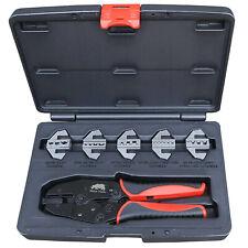 Electricians Cable Crimping Kit 5 Die Quick Change Ratchet Crimper Bootlace Dies