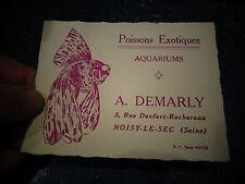 Ancienne carte comm Poisson Exotique d'Aquarium Noisy le Sec Voile de Chine
