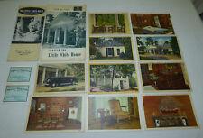 Old FDR President Roosevelt Little White House 10 Postcards PC Brochures Tickets