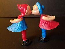 "Vintage Romeo and Julia Magneto Kissing dolls 3"" ~ West Germany ~ w/original box"