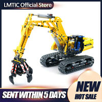 MOC Technic Bagger Excavator with Power Function Assembled Blocks Toys for Gifts
