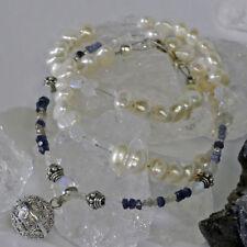 Saphir Echtschmuck-Halsketten & -Anhänger im Collier-Stil aus Sterlingsilber
