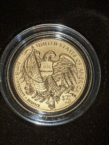 2015 US Marshals Service 225th Anniversary Commemorative $5 Gold Proof Coin n81