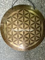 20 Inch Mantra Carved Gong-beautiful Nepalese carved gong made in nepal