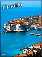 Dubrovnik Croatia Yugoslavia Yugoslavian Travel Advertisement Art Poster Print