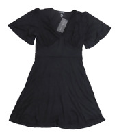 New Look Womens Size 8 Sweetheart Black Midi Dress (Regular)