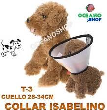 COLLAR ISABELINO COLLARIN PERRO GATO T3 CUELLO 28-34cm PROTECCION HERIDA D3 5015