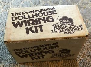 Vintage Professional Dollhouse Wiring Kit Electric by ILLINOIS HOBBYCRAFT