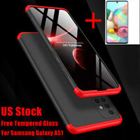 For Samsung Galaxy A51 A71 Case Shockproof Slim 360° Hybrid Cover+Tempered Glass
