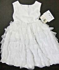 NWT $55 PIPPA & JULIE YOUNG CHILD'S DRESS 4 WHITE w RUFFLED SKIRT Holy Communion