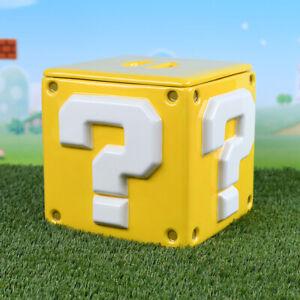 Boxed Biscuit Barrel Ceramic Gift -  Super Mario Cube - Storage Jar