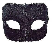 schwarz Samt Maske Herren Brille Fit Maskerade Augenmaske