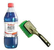 SET Velind Autoshampoo Konzentrat 1:250 Shampoo Wohnwagenreiniger 1L + Bürste