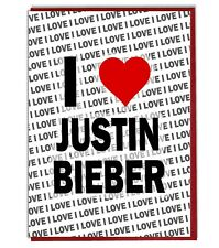 Greeting Card - Birthday Card - I Love Justin Bieber