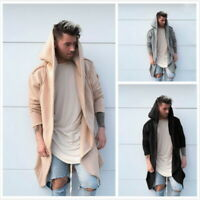 Men Punk Gothic Casual Cardigan Hooded Long Cloak Cape Coat Cosplay Loose Jacket
