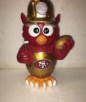 (1) San Francisco 49ers Thematic Owl NFL Garden Statue by Forever Collectibles