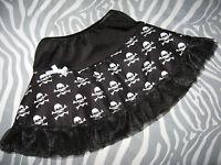 Skulls Skirt Alternative Baby Girls White Black Birthday party Shower pirates uk