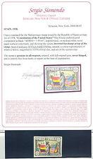 1938 ANIV.CONST.EEUU ** SINFIJASELLO SIN DENTAR SOBREC. INVERTIDA SPAIN SPANIEN