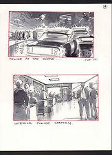 SHE'S OUT OF CONTROL 1989 ORIGINAL STORYBOARD ART ALTERNATES CARL ALDANA #4 COPS