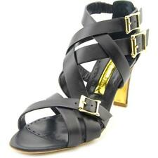 Rupert Sanderson Soraya Women US 7 Black Sandals UK 4 EU 37