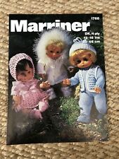 Marriner DK 4ply Dolls Outfits Clothes Knitting Pattern 1768