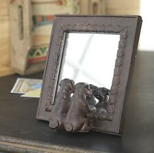 Dog Mirror Table Top 2 dogs puppies 7in rzsp 3220453 NEW RAZ Home Decor