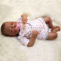 """20"""" Reborn Baby Boy Doll Full Body Silicone Lifelike Soft Doll Birthday Gifts"""