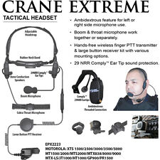 Earphone Connection CRANE EXTREME Tactical Headset for Motorola XTS Series