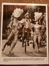 Ringling Brothers Barnum Bailey Circus Original Press Photo Showgirls & Unicycle
