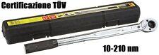 Chiave Dinamometrica 40-210 nm 1/2 Certificazione TÜV Unitec 20807 Professionale