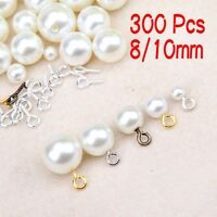 300Pcs DIY Eye Pins Jewelry Accessories Threaded Pendant Screw Hole Hooks
