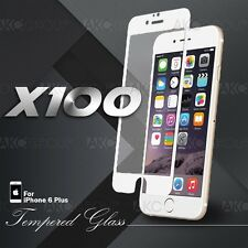 """100x White Full Cover Tempered Glass Screen Protector For IPhone 6S 6 Plus 5.5"""""""