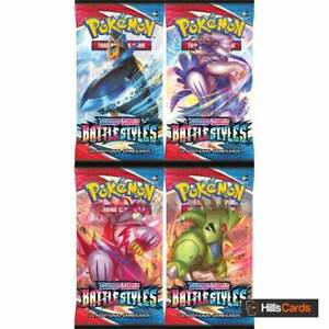 Pokemon Battle Styles 4 Booster Packs | New and Sealed |Sword & Shield TCG Cards
