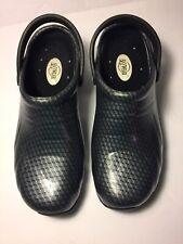 Anywhere Women's Clogs Nurse Shoes Black/Sliver Size 8