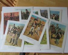 THE AMERICAN SOLDIER Set No 1; 10 Prints of Uniforms 1781-1855 ... Sealed Pack!