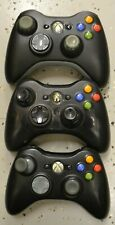 Lot of 3 Gaming Controllers XBOX 360 FOR PARTS Or Repair