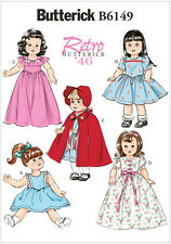 Butterick 6149 Sewing Pattern to MAKE Retro '46 Doll Clothes for 18 inch Dolls
