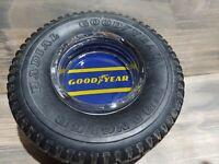 Vintage Original Goodyear Wrangler Radial Tire Advertising Ashtray Blue Wingfoot