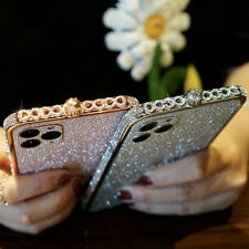 Shiny Rhinestones Bling Aluminum Metal Bumper Case For iPhone 11 Pro XS Max 8 7